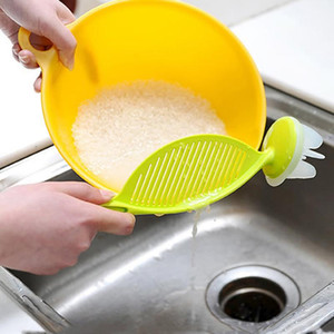 الإبداعي غسل الأرز مصفاة المطبخ الملحقات أداة الطبخ غسل الأرز اثارة مصفاة جهاز متعدد الألوان مفيدة مريحة BH0457 tqq