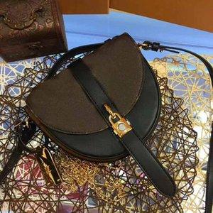 sac à main design-luxe sac à main L fleur en cuir véritable sac à main selle sacs à main designer des femmes de style demi-lune femme sac à main