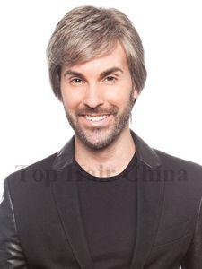Top Für Männer Kurze Schichten Kanekalon Perücken kühlen gerade Männer Perücken Natural Hair Synthetic Männlich Haar-Perücken