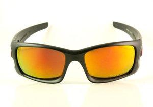 OO9165 Mens / Womens Kurbelgehäuse Brille Brillen Luxuslinse Marke Feuer Sonnenbrille Designer Schwarz Sonnenbrille Polarisiert Iridium New AFCCM