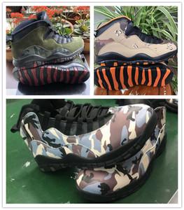 2019 Nouvelle Arrivée J10 Woodland Desert Camo Hommes Chaussures de basket-gris moyen Olive Noir foncé Armée Cinder hommes Designer Sport Sneakers