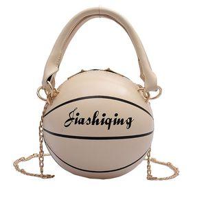 Women PU Leather Basketball Shaped Shoulder Crossbody Bag Tote Satchel Purse Q1QA