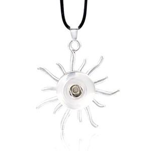 Collana di zenzero rotonda calda interscambiabile Ginger 013 Fit 18mm Pulsante a scatto Collana pendente Collana di fascino gioielli per le donne regalo