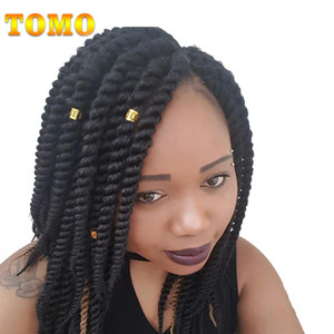 TOMO Hair Synthetic Crochet Braids For Woman 12 18Inch 12Roots Pack Ombre Senegalese Twist Crotchet Hair Extensions
