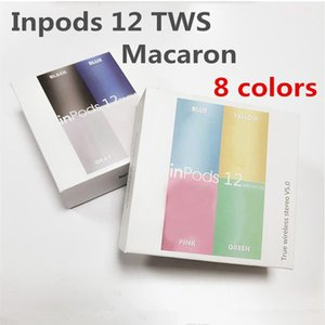 Casque sans fil Bluetooth I12 TWS inpods 12 Macaron V5.0 téléphone cellulaire écouteurs stéréo sport Sweatproof casque écouteurs tactiles Pop up