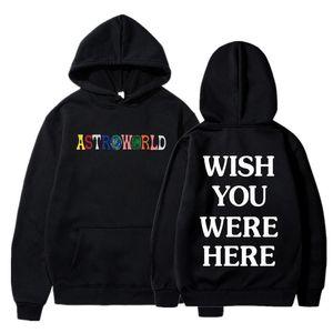 TRAVIS SCOTT ASTROWORLD YOU WERE HERE HOODIES fashion letter ASTROWORLD HOODIE streetwear Man woman Pullover Sweatshirt Y200704