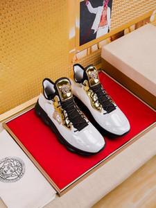 2019v летом новый мужской S кожа низкой верхней прогулочной обуви плоские белые туфли высокого качества моды диких размеров спортивной обуви: 38-44