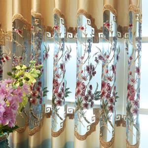 Cortinas para sala de visitas moderna Janela Cortina Quarto estudo chinês elegante New Hollowed-out