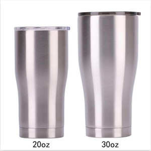 30OZ 20OZ stainless steel curving tumblers 30OZ 20OZ double wall vacuum waist shape water cups insulation beer coffee mugs