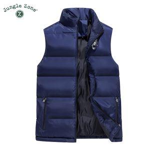 Zona Selva 2018 nueva chaqueta de algodón sin mangas caliente del invierno de los hombres del chaleco de los hombres casuales chaleco chaqueta caliente MJ008