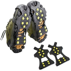 10 Studs ice gripper ice spikes for shoes Anti-Skid Snow Ice Climbing Shoe Spikes Grip Crampons Cleats Overshoes 2019 hot sale