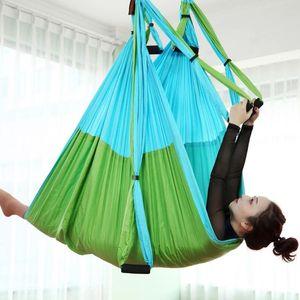 Color matchingAnti-gravity Aerial Yoga Hammock Full Set Flying Swing Trapeze Yoga Inversion Exercises Device Home GYM Hanging