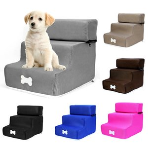 Dog Houses Pet Stair Steps Dog Stair Detachable Three-story Removable Washable Ladder Creative Dog Bed wholesale