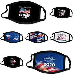 Máscaras Diseñador algodón Trump lujo máscara de tela cara, con el patrón de filtro reemplazable PM2,5 mascarillas reutilizables y lavables Bandera Ameican Máscara Boca