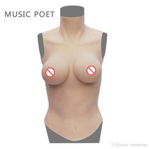 POET MUSIC formas de mama de silicona taza de D para una mastectomía Mujer potenciador de mama Haciendo balance del cuerpo artificial Boobs del pecho por un travesti