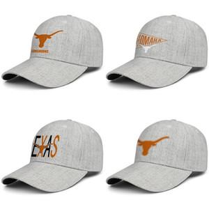 Texas Longhorns logotipo do futebol laranja Unisex snapback ajustável chapéu de lã de beisebol costume impresso Youthvisortrucker Boné 2018 NCAA