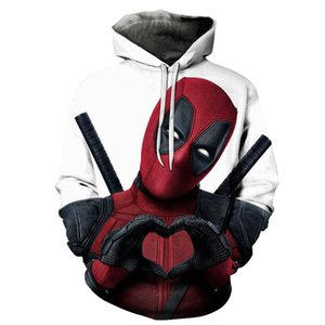 2019 Nouvelle impression 3D Marvel Superhero Deadpool 2 Hoodie Hommes Femmes Casual Hoodies Streetwear À Capuche Sweat Mode Drôle Vêtements SH190912