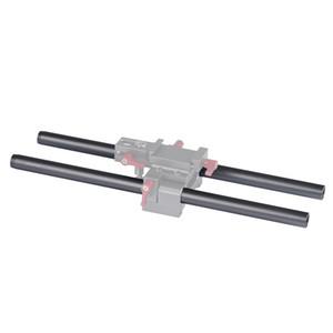 2 pcs WARAXE 2637 Diamètre 15mm Longueur 150mm En Alliage d'aluminium tiges pour 15mm Rod Rail Support Système