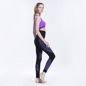 Sorunsuz Pamuk Baskılı Tayt Moda Yoga atletik Pantolon çizgili YM8290