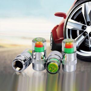 4PCS / pack Visible 2.4bar 36PSI 자동차 타이어 공기 경고 경고 타이어 압력 센서 모니터 밸브 캡 표시기 경고 자동 진단 도구