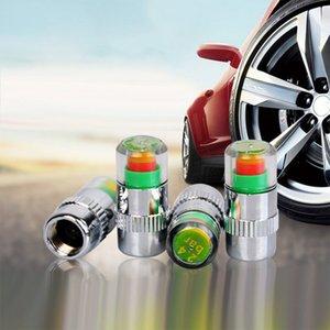 4pcs / 팩 anseable 2.4bar 36psi 자동차 타이어 공기 경고 경고 타이어 압력 센서 모니터 밸브 캡 표시 등 자동 진단 도구 JWSO
