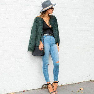 Plus Size Sheep Faux Fur Jacket Coat Women Elegant Fluffy Autumn Winter Jackets Coats Long Sleeve Cozy Warm Overcoat Outerwear