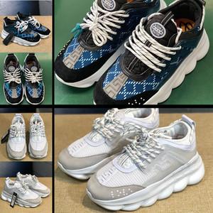 VERSACE 2020 nova moda modelou sapatos de sola grossa homens e sapatos femininos com bico redondo laços sapatilhas ocasionais