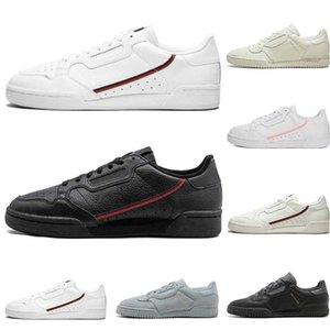 adidas Continental 80  Sapatos casuais rosa azul Núcleo preto OG mulheres brancas mensTrainer Esportes Tênis 36-45