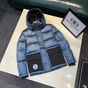 19ss rua para baixo homens casuais jaqueta hoodie morno ganso branco para baixo cheios principais detalhes de hardware perfeito casacos de inverno casaco para os homens