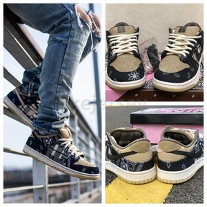 2020 New Release Travis Scott x SB Dunk Low Running Shoes High Quality Mens Skateboard Trainers Designer Casual Sneakers 40-45