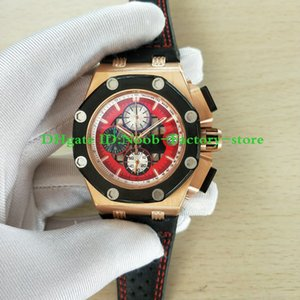Factory Best Edition Classic 44mm Rose Gold 26284RO.OO.D002CR.01 Chronograph Working VK Movement Leather Strap Mens Watch Watches