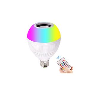 Envío Gratis Inalámbrico E27 3W LED RGB Bluetooth Altavoz Bombilla Lámpara Lámpara Reproducción de música e iluminación RGB con control remoto 24Key