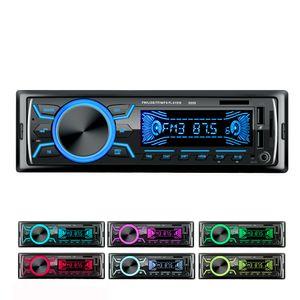 venda quente Radio 12V Car MP3 Player Stereo Display 1 Din Dual USB Digital Bluetooth Música AUX TF FM de áudio com leitor de controle remoto 5