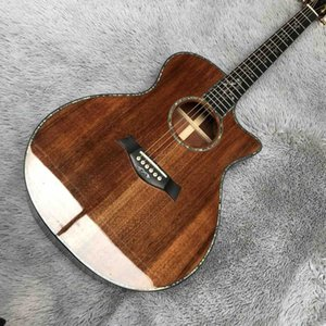 Solid Koa Wood Cutaway Ebony Fingerboard G916K Acoustic Guitar with Pickup EQ with Headstock Can be Customized Logo