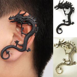 Pendientes de dragón Dragón gótico Serpiente Mariposa Hacha Pendiente de la vendimia para las mujeres Chicas Regalos del partido Joyería Punk Negro Oreja Clips