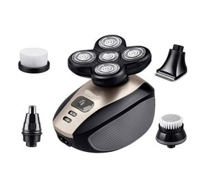 5 in 1 Waterproof Rechargeable Electric Nose Cutter Shaver 5 Blade Heads Beard Trimmer Razor Professional Nose Trimmer fre