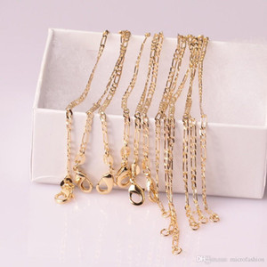 mühür Yeni Erkekler Takı toptan Klasik moda bağlantı zinciri kolye Figaro kolye ile 10pcs altın rengi kolye