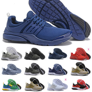 2019 Nike Air Max Presto Shoes Air Prestos Hommes Femmes Run Chaussures Air prestos Ultra BR QS Jaune Noir Rose Tp Oreo Sport Mode Fly jogging Chaussures de sport