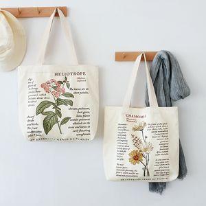 Kadınlara 2020 Retro Edebiyat Tuval Çanta Kadın Omuz Çantası Moda Pamuk Harf Alışveriş Shopper Bayan El Çantaları Bez Çantalar
