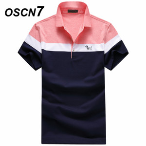 OSCN7 Plus Size shirt manica corta estate business casual Homme Fashion Camisas formali