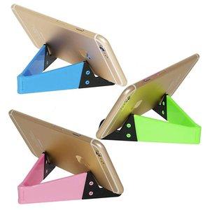 poignée de téléphone Mini support de téléphone pliable V Forme Design Stand pour téléphone portable Tablet PC iPad petits supports de support coloré