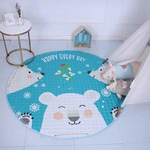 Nortic Cartoon Animals Fox Bear Unicorn pattern Baby Play Mats Child Crawling Blanket Toys Storage Bag Kid Room Decoration