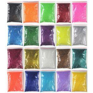 20 colori Choice 100g Pack ingombro Ultra Fine Nail Glitter Polveri per unghie punte di arte Corpo Decorazione artigianato all'ingrosso