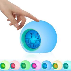 Детский будильник Wake Up Digital Clock for Kids 7 цветов меняющийся свет прикроватные часы для мальчиков девочек спальня с внутренней темперой