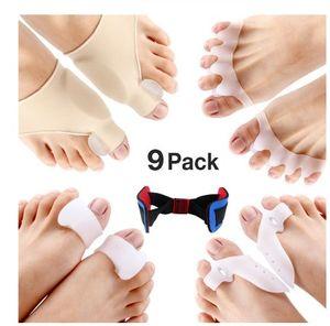 9pcs / lot Bunion Corrector Schutz Sleeves Kit für Heilung Schmerzen im großen Zeh Joint Bunion Hallux Valgus Hammer Toe Fußpflege Werkzeuge