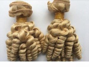# 613 Biondo Platino Funmi Capelli Bundles vergine peruviana Primavera Curly Weave Aunty Romance Riccioli Tissage Bleach Blond Hair Extensions