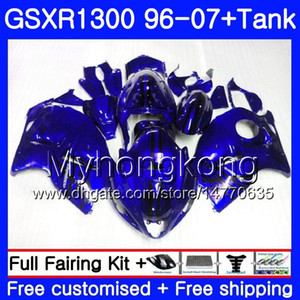 Hayabusa SUZUKI GSXR1300 96 97 98 99 00 01 07 Kit 333HM.165 GSXR 1300 GSXR1300 1996 1997 1998 1999 2000 2001 2007 İçin Parlak mavi Fairing