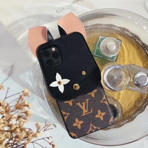 Модный официальный случай Cat delsigner телефон Iphone 11 про х хз макс хг 11Pro 8 8plus 7 7plus мило моды кожа крышки обратно оболочки
