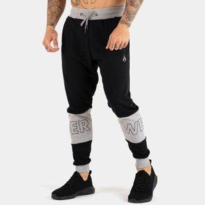 Cotton Casual Pants Men Joggers Sweatpants Trackpants Gym Fitness Workout Trousers Spring Male Sportswear Patchwork Pencil pants
