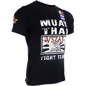 VSZAP Fitness Short Sleeve T-shirt MMA Boxing Jerseys Fighting Shirts Muay Thai Mma Homme Gym Fightwear Martial Art Sweatshirts